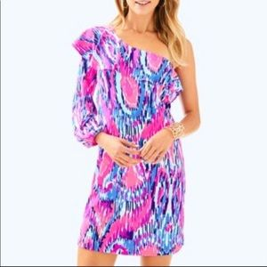 Lilly Pulitzer Amante Silk Jersey One shoulder